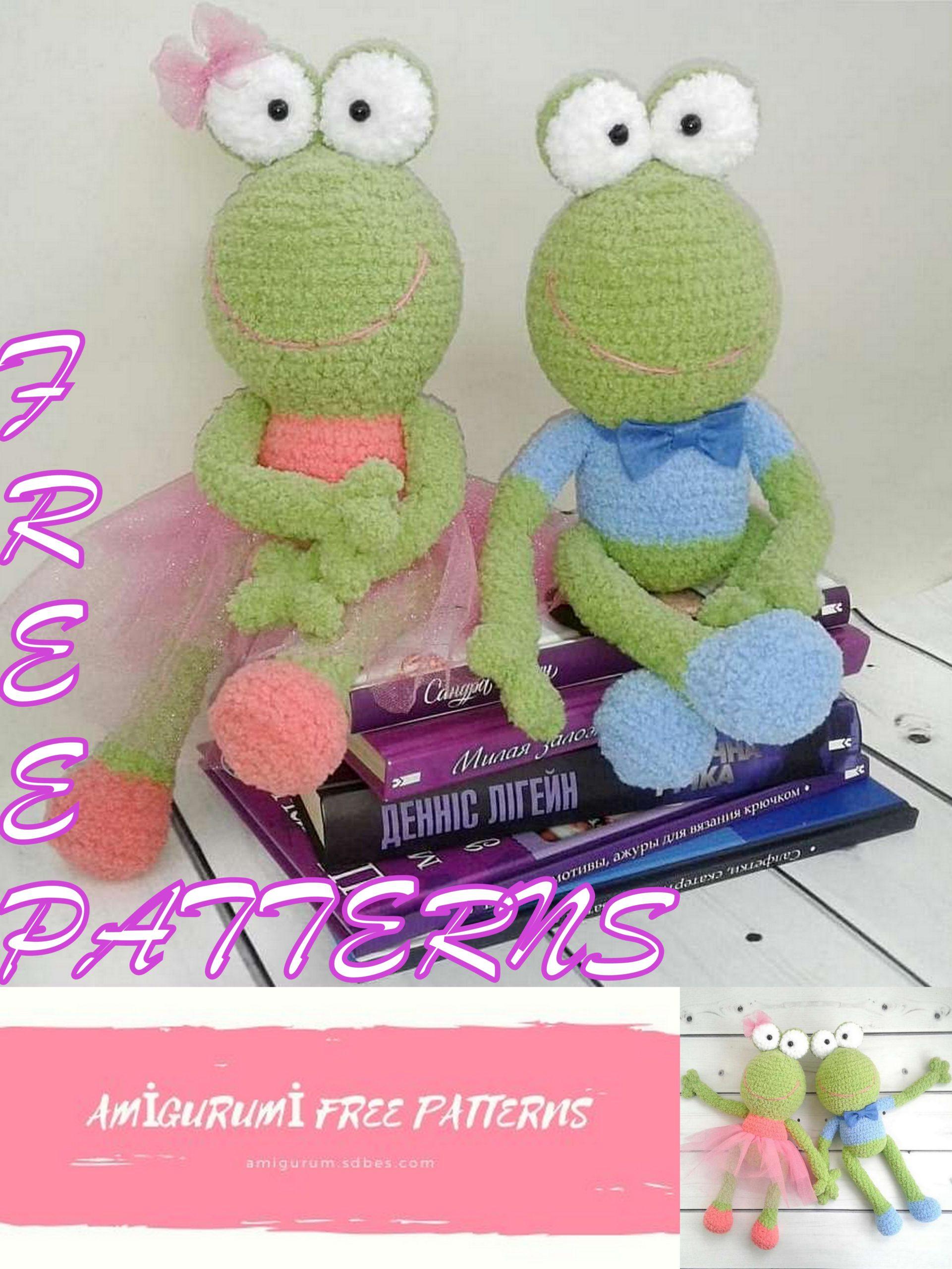 Amigurumi frog free crochet pattern | Amigurumi Space | 2560x1921